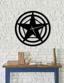Bild 5 - Design Metall Wanduhr Stern Uhr Archtwain Studio Design WU-101