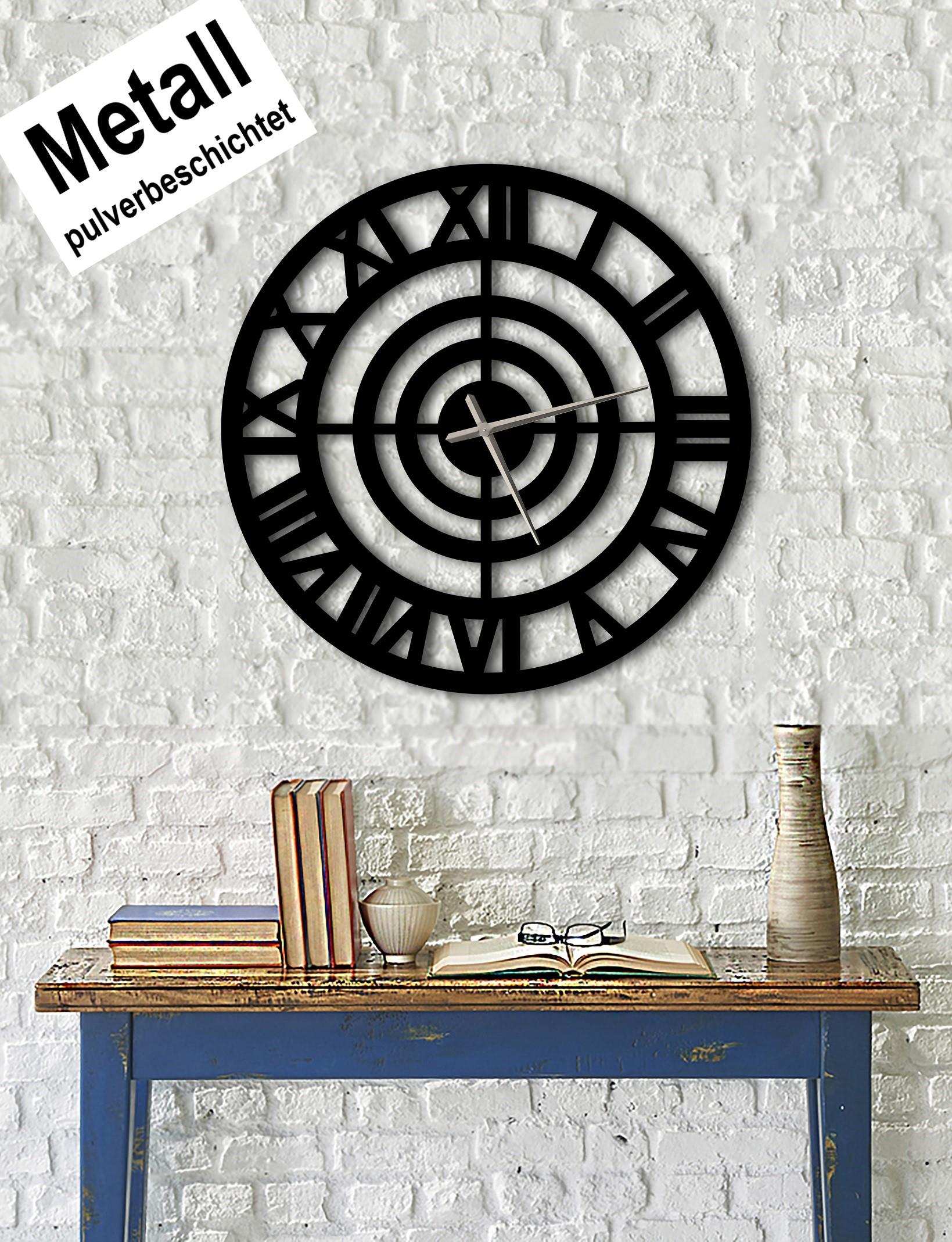 Design Metall Wanduhr Römische Zahlen Uhr Archtwain Studio Design Wu