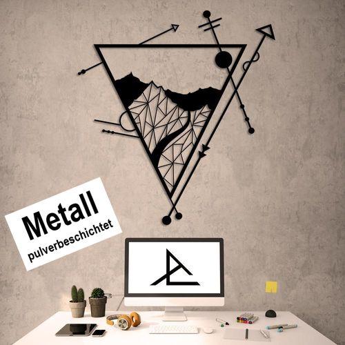 Design 3D Wandbild 100 x 91,5 cm Landschaft Metallbild Wanddeko Archtwain Studio Design Industrie Look MD-105