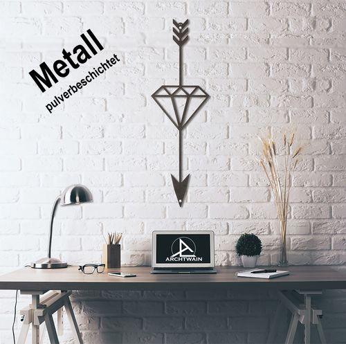 Design 3D Wandbild 60 x 25 cm Pfeil Diamant Wanddeko Archtwain Studio Design Industrie Look MD-107