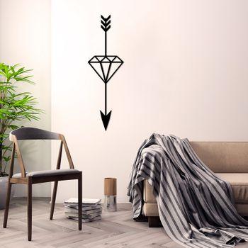 Bild 2 - Design 3D Wandbild 60 x 25 cm Pfeil Diamant Wanddeko Archtwain Studio Design Industrie Look MD-107