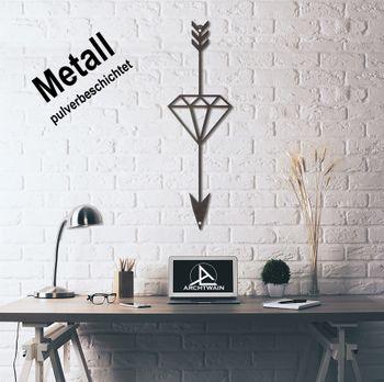 Design 3D Wandbild 100 x 30 cm Pfeil Diamant Wanddeko Archtwain Studio Design Industrie Look MD-107
