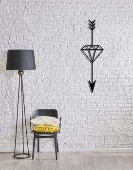 Bild 4 - Design 3D Wandbild 100 x 30 cm Pfeil Diamant Wanddeko Archtwain Studio Design Industrie Look MD-107