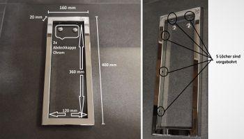 Bild 6 - 1x Chrom Handtuchhalterung / Wandhalterung Waschtischplatte Regalträger Konsolenhalterung Wandkonsole Konsolenträger