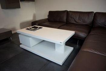 Bild 7 - Design Couchtisch Tisch G-18 Weiß Schublade Stauraum Carl Svensson