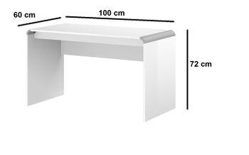 Bild 3 - Schreibtisch HB-111 + Rollcontainer HN-555 Weiß Hochglanz Highgloss Tisch 100cm