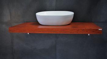 Bild 3 - Edler Waschtisch Tisch MN-60 Carl Svensson Waschtischplatte Waschkonsole Kirschbaum Kirsche inklusive Halterung