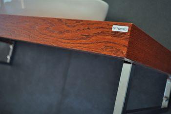 Bild 6 - Edler Waschtisch Tisch MN-120H Carl Svensson Waschtischplatte Kirschbaun Kirsche inklusive Handtuchhalter
