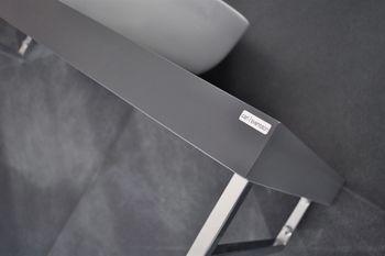 Bild 4 - Edler Waschtisch MN-100H Carl Svensson Waschtischplatte Grau Seidenmatt mit Handtuchhalter