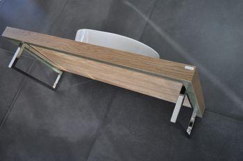 Bild 5 - Edler Waschtisch MN-100H Carl Svensson Waschtischplatte Eiche natur inklusive Handtuchhalter