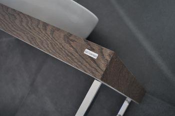 Bild 7 - Edler Waschtisch MN-60H Carl Svensson Waschtischplatte Waschkonsole Eiche dunkel inklusive Handtuchhalter