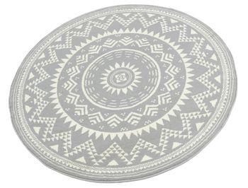 Bild 2 - Design Velours Teppich orientalisch CM-15 Grau Creme rund 140 cm