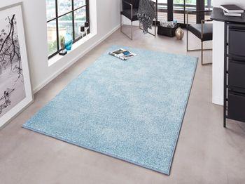 Kräuselverlours Velours Teppich 160 x 240 cm Pure Uni Blau HF-6