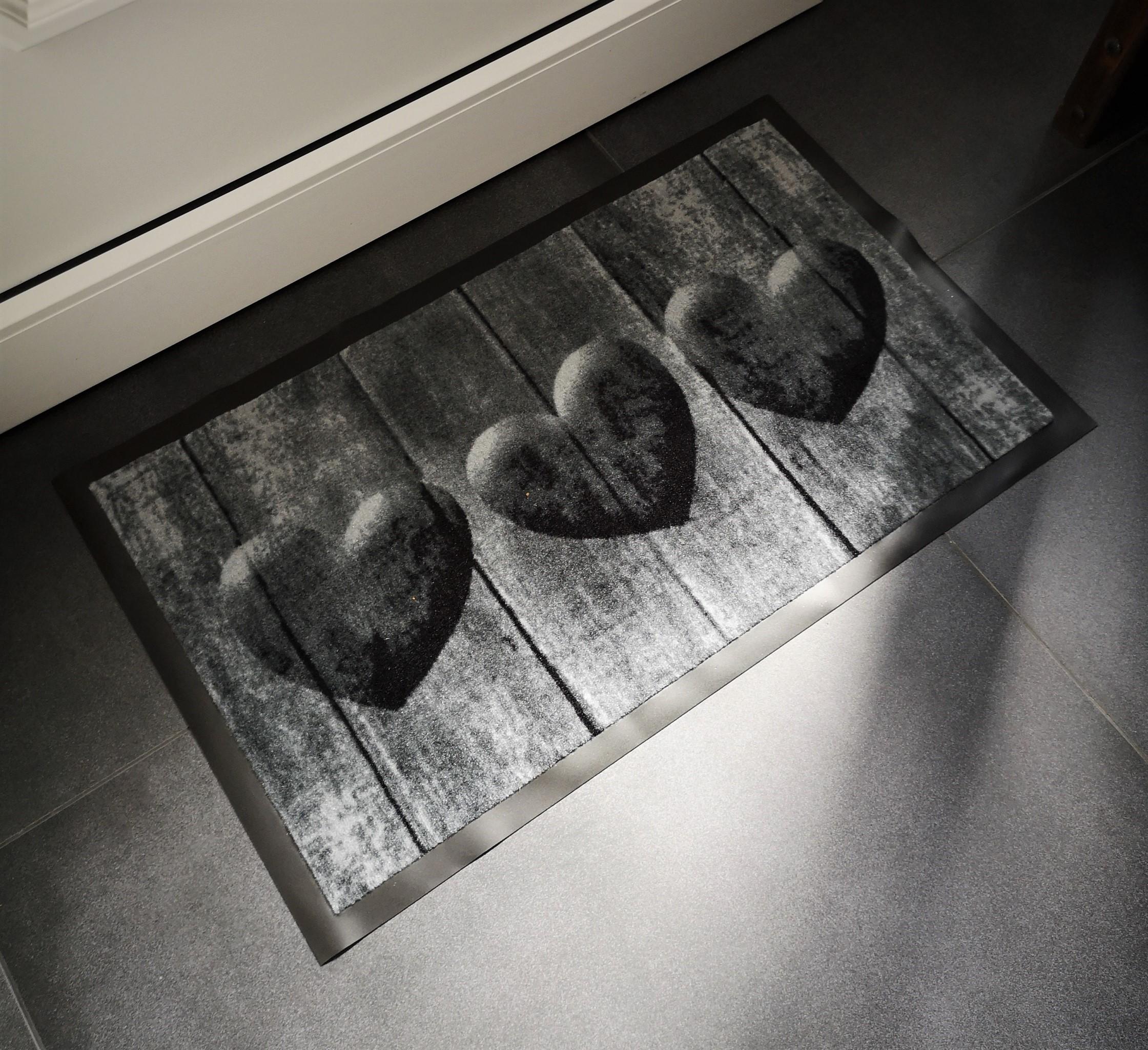 SIENA HOME Fußmatte Metal Look 45 x 75 cm Schmutzmatte Abtreter Matte Schuhmatte
