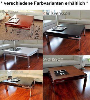 Bild 7 - Design Couchtisch Tisch K-222 Kirschbaum Kirsche Chrom Carl Svensson