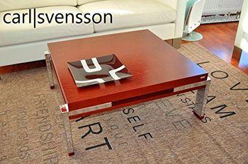 Bild 6 - Design Couchtisch Tisch K-222 Kirschbaum Kirsche Chrom Carl Svensson