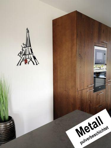 Design 3D Wandbild 63 x 45 cm Paris Eifelturm France Metallbild Wanddeko Archtwain Studio Design Industrie Look MD-117