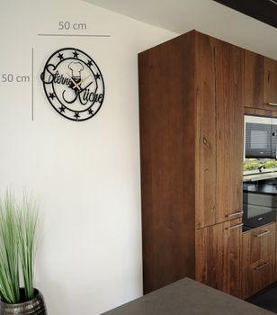 Bild 2 - Design Metall Wanduhr Sterneküche Küchendeko Küche Uhr Archtwain Studio Design WU-112