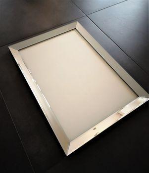 Bild 2 - Edler Design Bilderrahmen Fotorahmen Wandbild Spiegelglas Glasbild Spiegelrahmen handmade Carl Svensson 80x60
