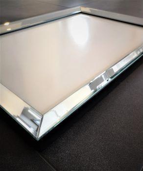 Bild 5 - Edler Design Bilderrahmen Fotorahmen Wandbild Spiegelglas Glasbild Spiegelrahmen handmade Carl Svensson 80x60