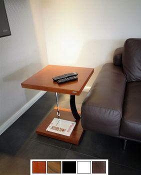 Edler Beistelltisch Tisch Carl Svensson Ecktisch Notebooktisch Y-50 Kirschbaum Kirsche mit Rollen