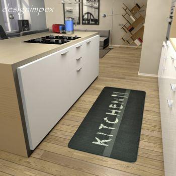 Küchenläufer Küchenmatte Läufer Küchenteppich Kitchen Grau KL-12