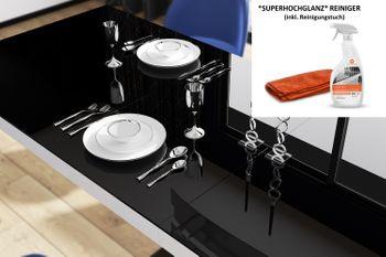 Bild 2 - Reiniger 500ml speziell für Hochglanzmöbel Küchenfronten Hochglanzfronten Hochglanzreiniger inkl. Reinigungstuch Set