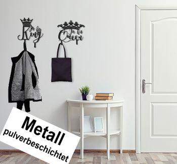 2er Set Design 3D Garderobe Kleiderhaken 35 x 40 cm King Queen Deko Wanddeko Archtwain Studio Design Industrie Look
