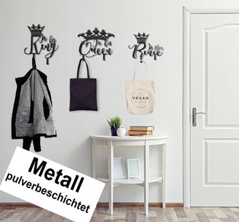 3er Set Design 3D Garderobe Kleiderhaken King Queen Prince Deko Wanddeko Archtwain Studio Design Industrie Look