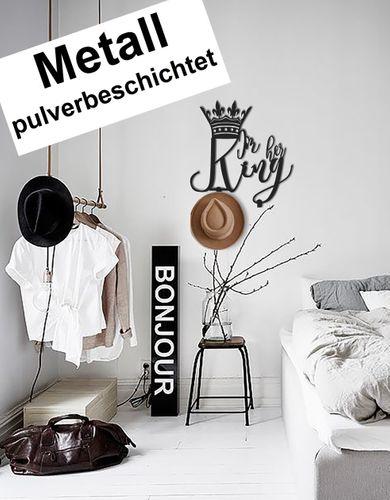 Design 3D Garderobe Kleiderhaken 35 x 40 cm King König Deko Wanddeko Archtwain Studio Design Industrie Look MD-134