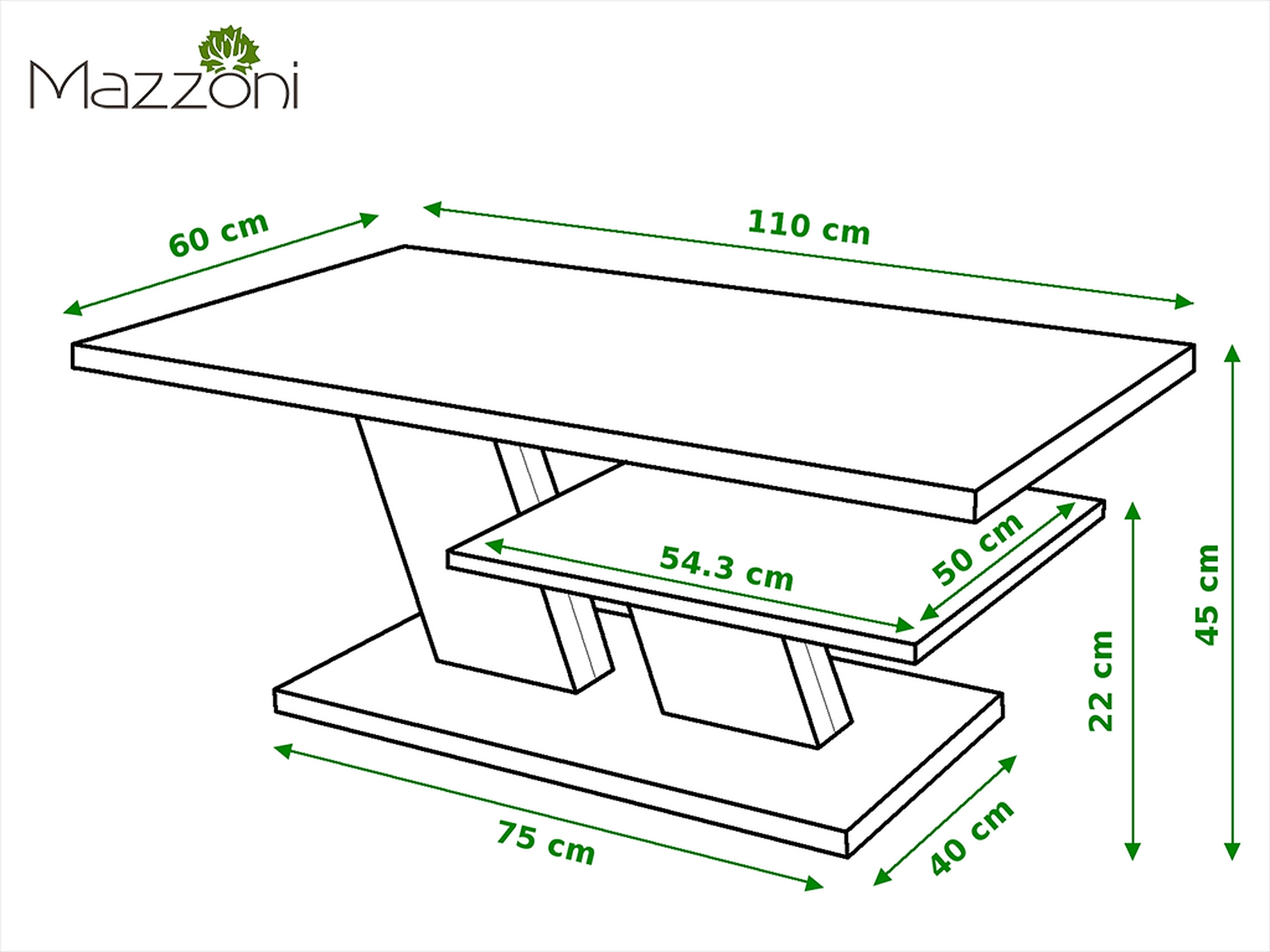 design couchtisch tisch cliff wei hochglanz schwarz matt wohnzimmertisch 110x60x45cm mit