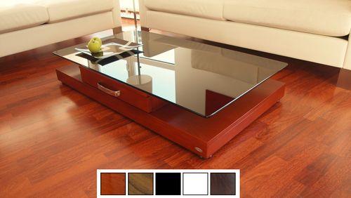 Design Couchtisch Tisch V-470 Kirschbaum Kirsche getöntes Glas Carl Svensson