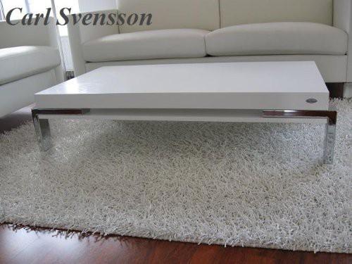 design couchtisch k 111 wei chrom carl svensson tisch. Black Bedroom Furniture Sets. Home Design Ideas