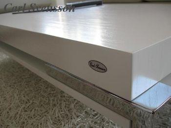 Bild 5 - Design Couchtisch K-111 Weiß Chrom Carl Svensson Tisch Wohnzimmertisch