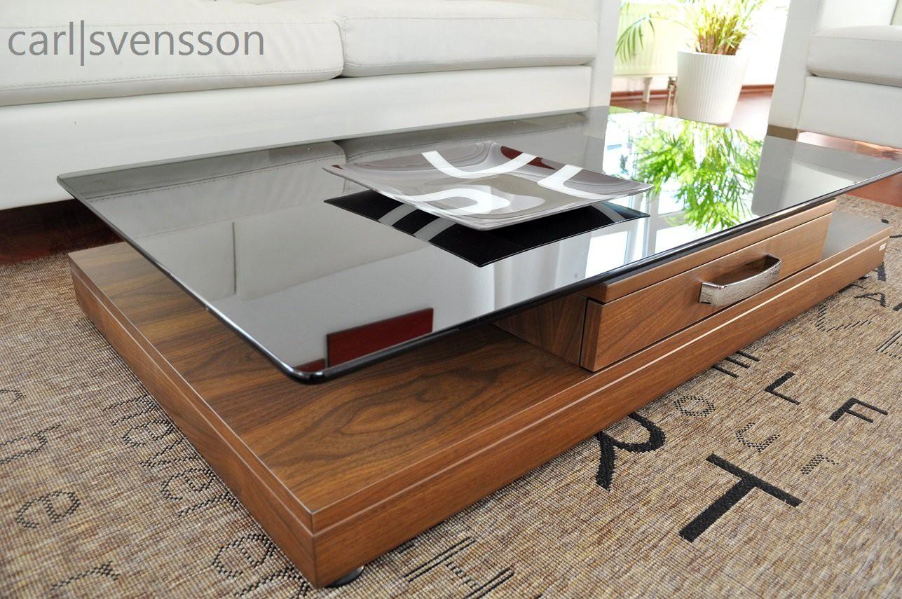 design couchtisch v 470 nussbaum walnuss get ntes glas carl svensson couchtische nussbaum. Black Bedroom Furniture Sets. Home Design Ideas