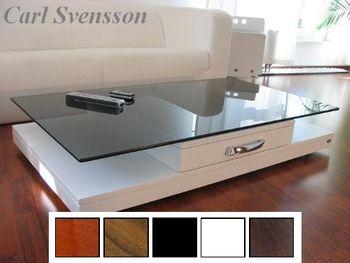 Design Couchtisch Tisch Weiß V-470 getöntes Glas Carl Svensson