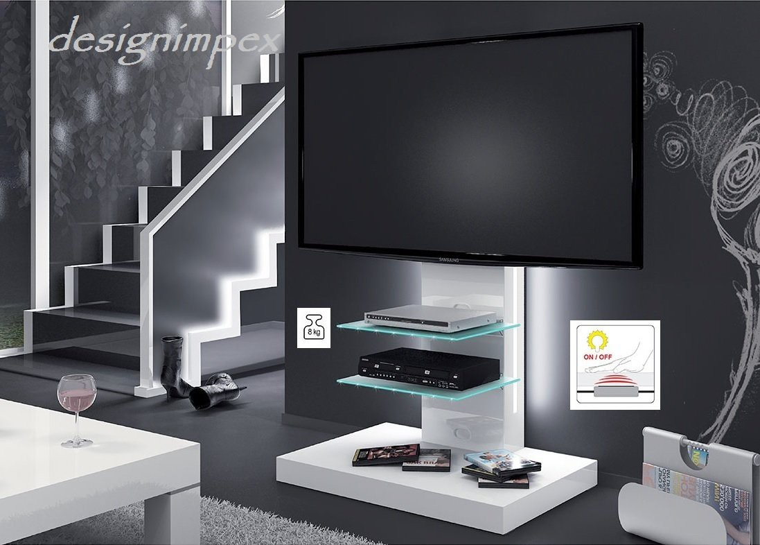 design fernsehtisch h 444 wei hochglanz tv schrank tv m bel tv rack lcd inkl tv halterung. Black Bedroom Furniture Sets. Home Design Ideas