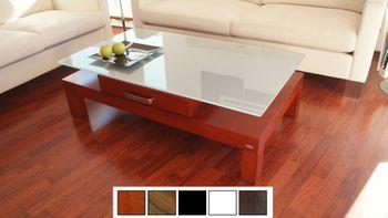Design Couchtisch Tisch V-470H Kirschbaum Kirsche Milchglas Carl Svensson