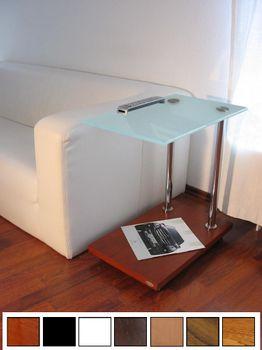 Design Beistelltisch Tisch Ecktisch Kirschbaum Kirsche V-270 Milchglas