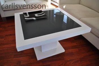 Bild 3 - Design Couchtisch Tisch S-360 Weiß getöntes Glas Carl Svensson
