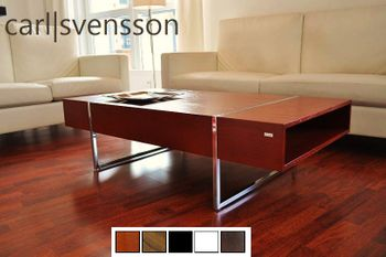 Design Couchtisch N-111 Kirschbaum Kirsche Chrom Tisch Carl Svensson