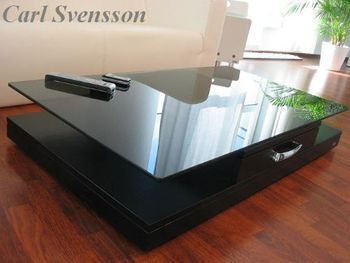Bild 4 - Design Couchtisch Tisch V-470 Schwarz getöntes Glas Carl Svensson