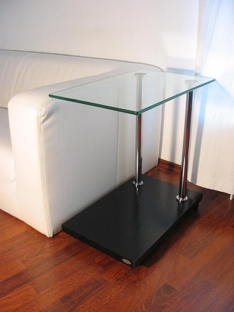 Design Beistelltisch Ecktisch V 270 Schwarz Glas Carl Svensson Möbel
