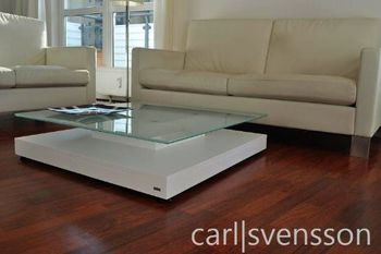 Bild 6 - Design Couchtisch Tisch V-570 Weiß Milchglas Carl Svensson