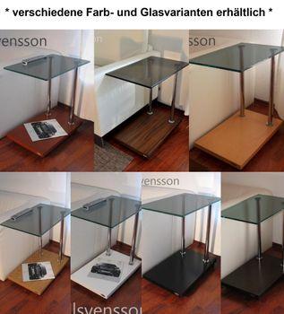 Bild 3 - Design Beistelltisch Kirschbaum Kirsche V-270 getöntes Glas