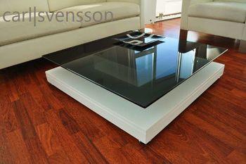 Bild 5 - Design Couchtisch Tisch V-570 Weiß getöntes Glas Carl Svensson