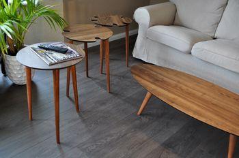 Bild 2 - B-Ware / Satztisch Dreisatztisch Tisch  Svensson LA-1nu Walnuss Nussbaum