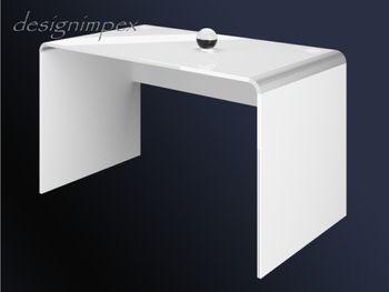 Bild 2 - Schreibtisch Bürotisch HB-111 Weiß Hochglanz Highgloss Tisch 100cm