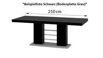 Bild 7 - Design Esstisch HE-111 Weiß - Grau Hochglanz ausziehbar 160 / 210 / 260 cm