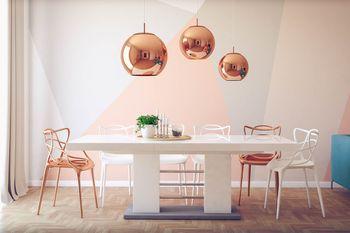 design esstisch he 111 wei grau hochglanz ausziehbar 160 bis 260 cm ebay. Black Bedroom Furniture Sets. Home Design Ideas